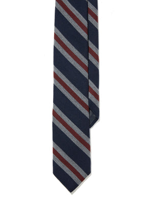 Tie - Navy Burgundy Stripe