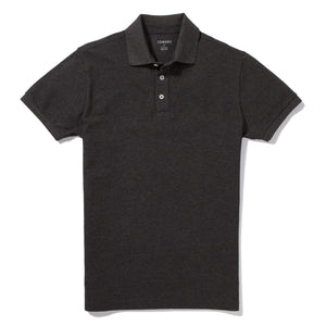 Wentworth - Heather Charcoal Pique Polo