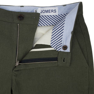 Seneca (Slim) - Heavyweight Olive Brushed Twill Chino