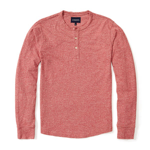 Henley - Japanese Marled Red