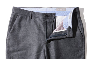 Holmes - Gray Wool Flannel Trousers