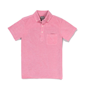 Audubon - Pink Short Sleeve Oxford Pique Polo
