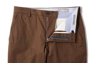 Woodvale (Slim) - Umber High Count Twill Chino