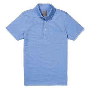 Halsey - Sky Blue Short Sleeve Oxford Pique Polo