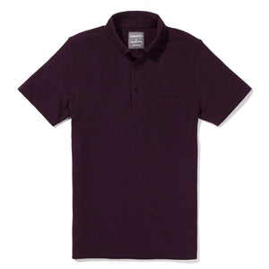 Decatur - Burgundy Short Sleeve Oxford Pique Polo