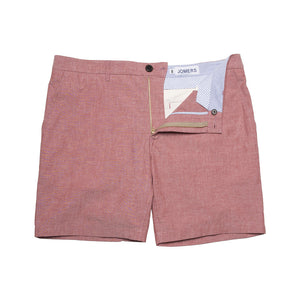 Classon - Red Oxford Shorts