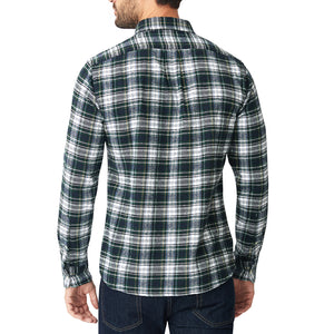 Japanese Shaggy Flannel Shirt - Blackwatch Plaid