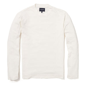 Leighton - White Pima Slub Long Sleeve Tee