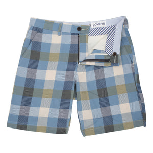 Pinardi - Light Blue Jacquard Pattern Block Shorts
