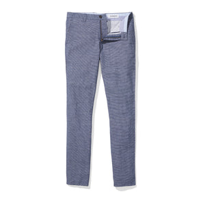Bretton (Slim) - Blue Stripe Irish Linen Cotton Stripe Chinos