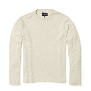 Teague - Heather Gray Corded Long Sleeve Tee
