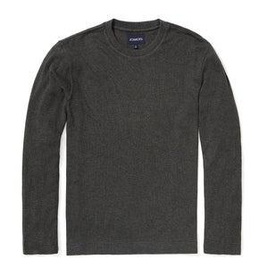 Darcy - Charcoal Textured Long Sleeve Tee