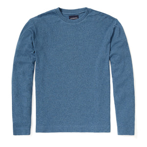 Poppy - Cobalt Textured Long Sleeve Tee