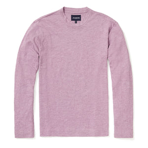 Ellison - Heather Purple Slub Long Sleeve Tee