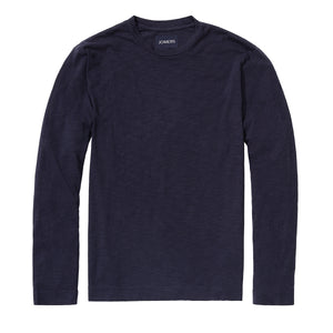 Pima Slub Long Sleeve Tee - Navy