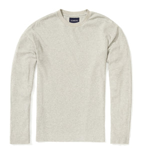 Palmer - Heather Gray Textured Long Sleeve Tee