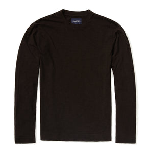 Pima Slub Long Sleeve Tee - Black