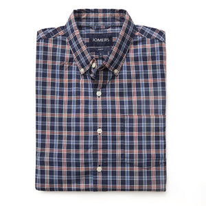 Washed Button Down Shirt - Richardson Plaid