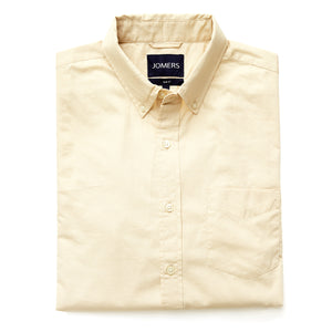 Washed Button Down Shirt - Textured Beige