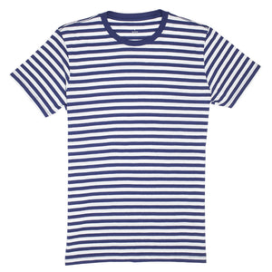 Preston - Medieval Blue White Stripe Tee
