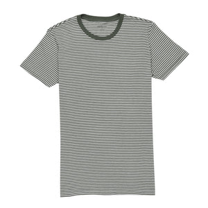 Chester - Olive Moss Bright White Stripe Tee