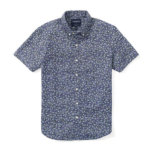 Italian Short Sleeve Shirt - Midnight Vintage Floral