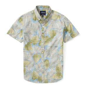 Italian Short Sleeve Shirt - Siena Palm Print