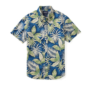 Italian Short Sleeve Shirt - Lipari Fern Leaf