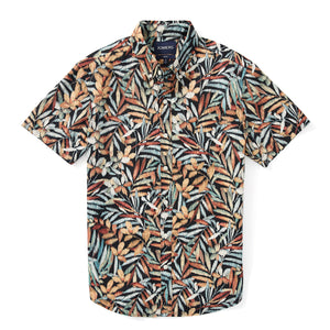 Italian Short Sleeve Shirt - Pacific Tropical Leaf