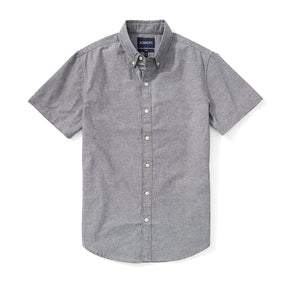 Japanese Chambray Short Sleeve Shirt - Gray