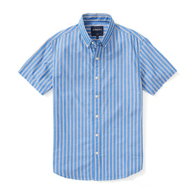 Japanese Short Sleeve Shirt - Navy Multi Stripe