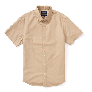 Japanese Poplin Short Sleeve Shirt - Khaki