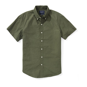 Japanese Poplin Short Sleeve Shirt - Olive