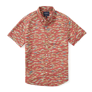 Italian Short Sleeve Shirt - Red Fish Scatter