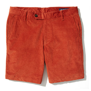 Fairfax - Burnt Orange Stretch Cord Shorts