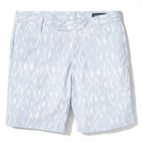 Claude - Sky Blue Ikat Print Shorts