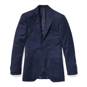 Slim Italian Wool Suit- Heather Blue
