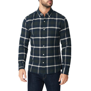 Washed Button Down Shirt - Atlas Plaid Flannel