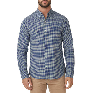 Washed Button Down Shirt - Bay Blue Gingham