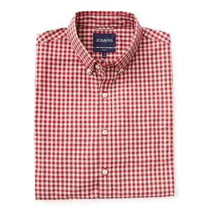 Washed Button Down Shirt - Cole Red Gingham