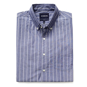 Washed Button Down Shirt - Delafield Stripe