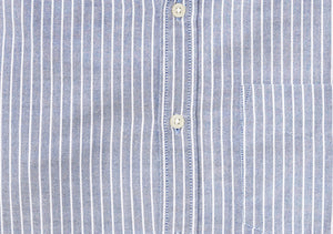 Washed Button Down Shirt - Chelsea Stripe Oxford