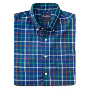 Washed Button Down Shirt - Fieldston Plaid