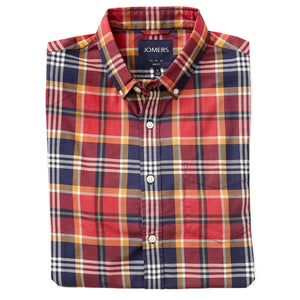 Washed Button Down Shirt - St James Plaid