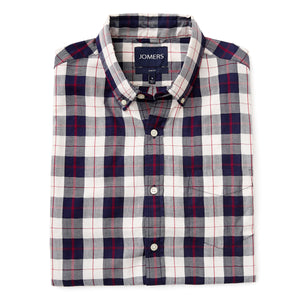 Washed Button Down Shirt - Brushed Japanese Twill Beverly Check