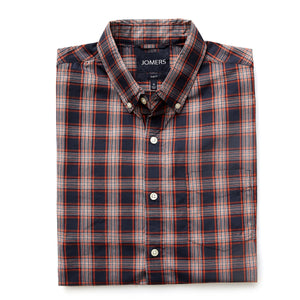 Washed Button Down Shirt - Scott Plaid