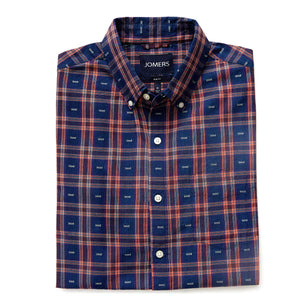 Washed Button Down Shirt - Willoughby Dobby Plaid