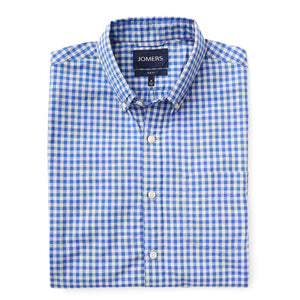 Washed Button Down Shirt - Cole Blue Gingham