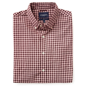 Washed Button Down Shirt - Burg Rose Gingham
