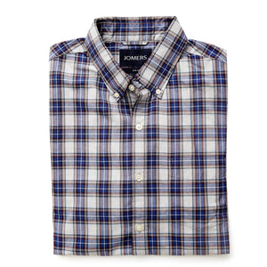 Washed Button Down Shirt - Atlantic Plaid